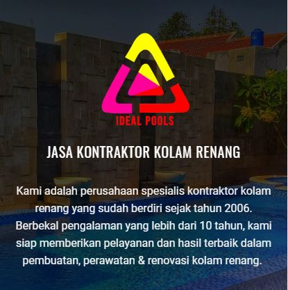 KONTRAKTOR KOLAM RENANG IDEALPOOLS.ID